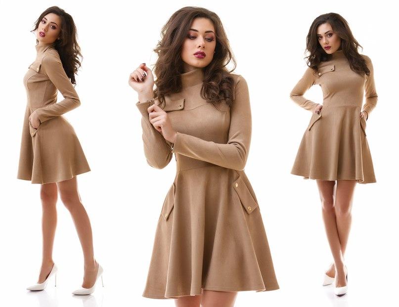 замшевое платье с чем носить